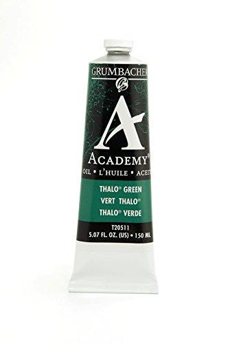 Grumbacher Academy Oil Paint, 150 ml/5.07 oz, Thalo Green (Blue Shade)
