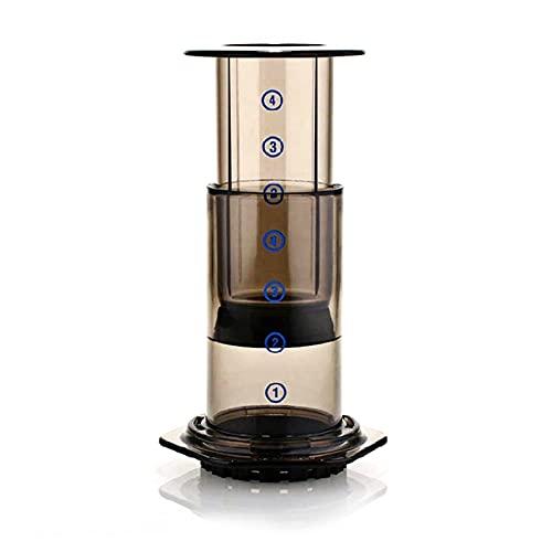 Draagbare koffiemachine handleiding druk pot filter met de hand gewassen koffie druppelpot met koffie filter papier huis…