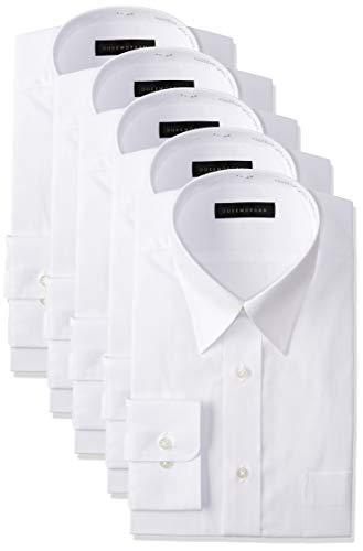 [コナカ] 形態安定加工/お好みで好きなセットが選べるビジネスワイシャツ5枚セット/オールシーズン/レギュラーシルエット【少しゆったり】/選べるバリエーション【レギュラーカラー/ボタンダウン/ワイドカラー】/メンズワイシャツ YS-BAN-5SET 白無地(レギュラー) 首回 39-82cm (日本サイズM相当)