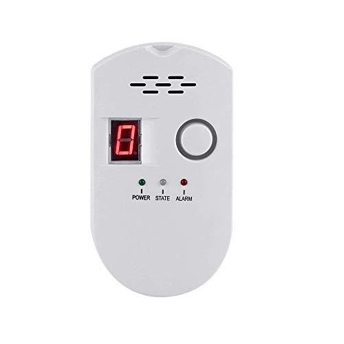 Natural Gas Detector, Gas Leak Detector, Household Propane Leak Detector for Home Kitchen (1, White)