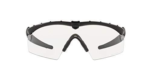 Oakley Men's OO9047 Ballistic M Frame 2.0 Strike Rectangular Sunglasses, Matte Black/Clear, 33 mm