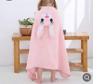 Xiaobing Albornoz con Forma de Animal para niños pequeños, Toalla de baño con Capucha para bebé, Manta Absorbente para niños -E-70x119cm