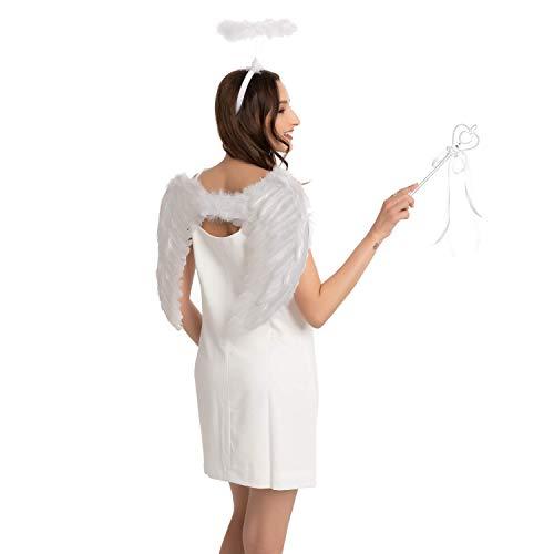 Conjunto de accesorios de ángel blanco, fiesta de disfraces de Halloween