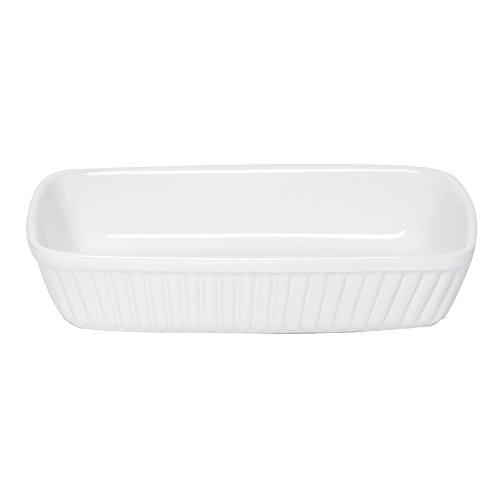 Excelsa Pirofila Rettangolare Perfetta per infornare Ogni Tipo di pietanza, Ceramica, Bianco, 25 X 15 Cm