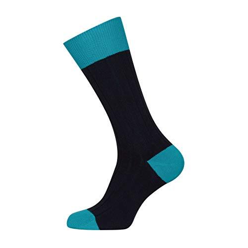 John Smedley Gamma Mens Fashion Socks Medium/Large Navy