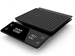 0.1g Digital Coffee Scale with Timer Electronic Scales Food Balance Measuring Weight Kitchen Coffee Scales Color black