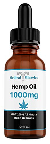 Medical Miracles 1000 MG Hemp Oil Pain Relief | Quick Healing, Maximum Strength, 100% Natural Tincture Relieves Inflammation, Muscle, Joint, Knee, Nerve, & Arthritis Aches | Fast Acting, Extreme Power