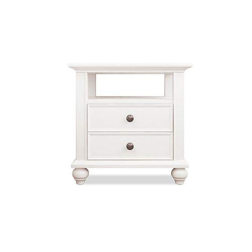 Great Price! CXJC Bedside Table Top Grade Solid Birch Nordic Modern Nightstand End Table with Drawer...