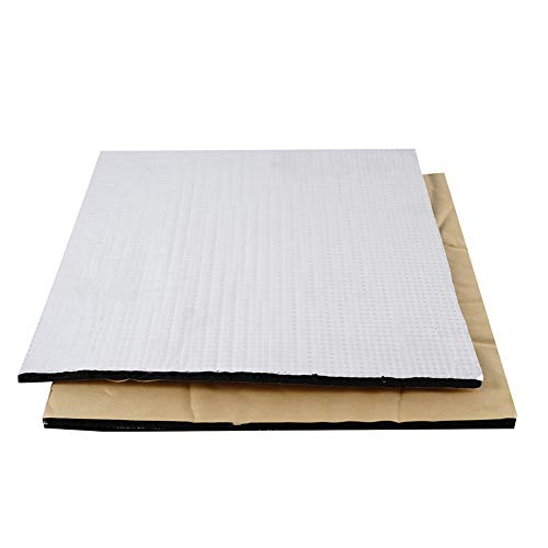 2pcs Heated Bed Foil Self-Adhesive Insulation Cotton Mat Waterproof Thermal Insulation Mat for 3D Printer Heatbed Parts 220mmx220mm