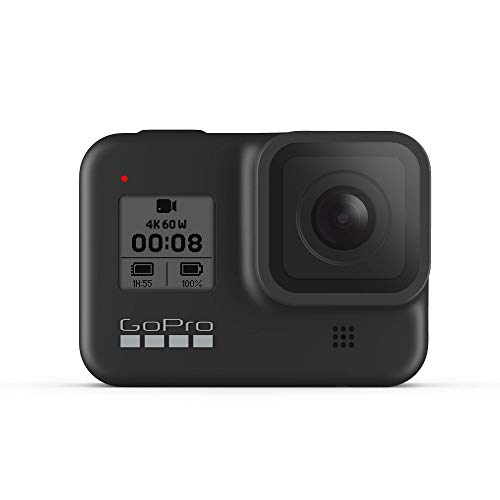 GoPro HERO8 Black - Waterproof Action Camera with Touch Screen 4K Ultra HD Video 12MP Photos 1080p Live Streaming Stabilization (Renewed)