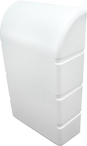 Preisvergleich Produktbild Gedotec Wand Abdeckhaube nachrüsten Abdeckkappe massiv für IRONFIX Klapp-Bügelbrett / Kunststoff weiß RAL 9010 / Möbelbeschläge / 1 Stück