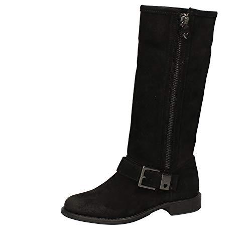 Twin-Set Stiefel Damen Wildleder schwarz 36 EU