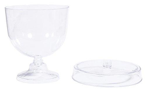 Rayher 39497000 présentoir sur pied avec cloche décorative plastique transparent