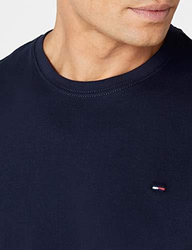 Hilfiger Denim Herren T-Shirt Original cn knit s/s, Gr. Large, Blau - 3