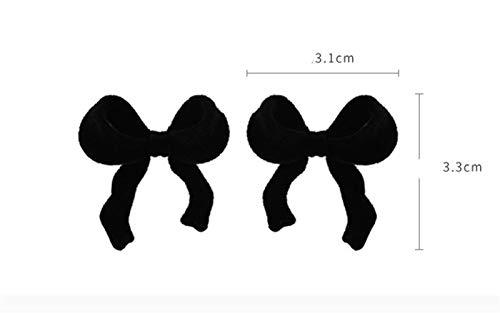 Pendientes De Mujer,Invierno Flocking Bowknot Stud Pendientes Vintage Geometría Preciosa Oreja Studs Moda Accesorios Gota Dangle Encanto Moda Joyería para Mujeres Mujeres Niñas,B