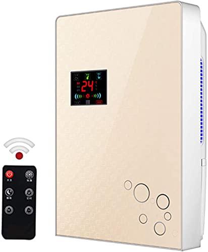 Deumidificatore, 80W Deumidificatore Assorbitore di Umidità Indoor Deumidificatore Display LCD A Basso Rumore Telecomando Temporizzazione Esterno Tubo Acqua