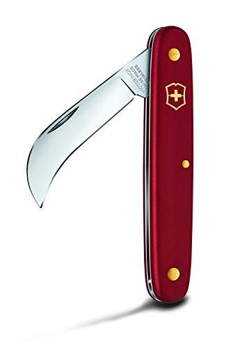 Victorinox Herramienta de bolsillo, navaja podadera XS con hoja curva de 51 mm, color rojo, blíster
