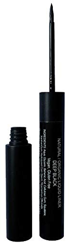 Mom's Secret 100% Natural Liquid Eyeliner Black, Organic, Vegan, Made in the USA, 0.21 oz.