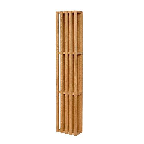 WLM Rack Einfaches Eichenregal-Persönlichkeitsschlafzimmerleiste Des Modernen Unbedeutenden Wohnzimmers Des Bücherschranks Aus Massivem Holz A+