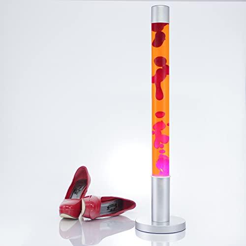 Decorativa XXL 'Alan' Lámpara de lava de 76 cm de altura Lámpara de pie en rojo anaranjado magmae / Iluminación incluida / Interruptor de cable / Lámpara de lava, conmutador de cable