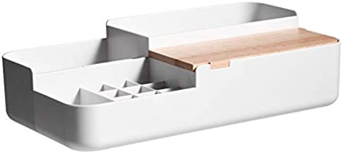 Refreshing Plastic Makeup Storage Box with Wood Lid Jewelry Cosmetic Storage Boxes Lipstick Holder Home Organizer for Neck...