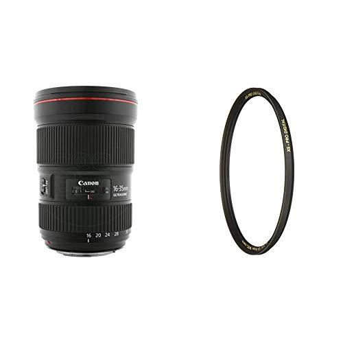 Canon Objektiv EF 16-35mm F2.8L III USM Ultraweitwinkel für EOS (82mm Filtergewinde) schwarz & B+W UV-Haze- und Schutz-Filter (82mm, MRC Nano, XS-Pro, 16x vergütet, Slim, Premium)