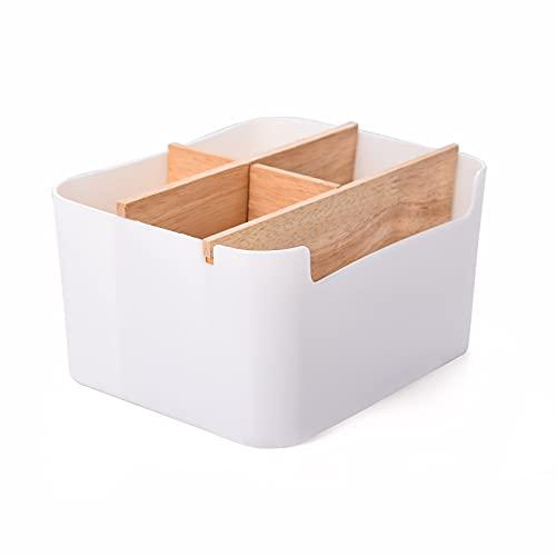 FORMIZON Holz Desktop Stift, Aufbewahrungsbox mit Abnehmbar Fächer, Desktop Stationery Storage Box, Schreibtischorganizer, Stiftebox Tisch Organizer für Büro, Schule und Haushalt