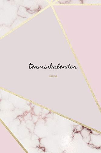 Terminplaner 2020 pastell: Kalender |Wochenplaner marmor gold rosa | Taschenkalender und Terminkalender für das neue Jahr |Termine selbst gestalten ... modernes marmor und gold design| Frauen