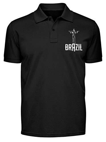 Brasilien Cristo Redentor Rio de Janeiro - Polo Shirt -XXL-Schwarz