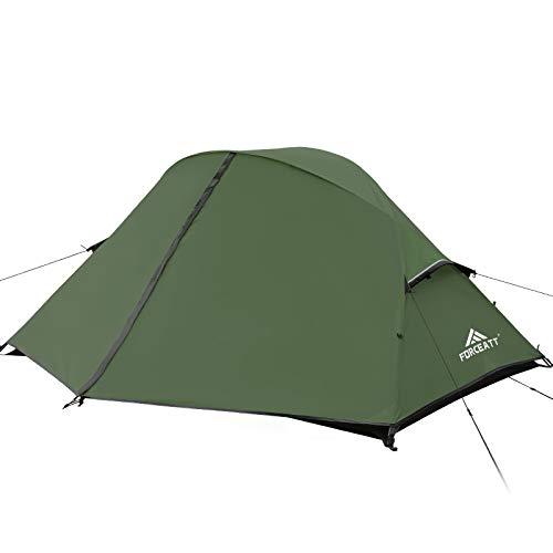 Forceatt Zelt, 2 Personen Zelte, Ultraleicht Zelte Rucksackzelt für 3-4 Jahreszeiten, Wasserdicht und Winddicht, Geeignet für Reisen, Camping, Wandern und Andere Outdoor-Sportarten