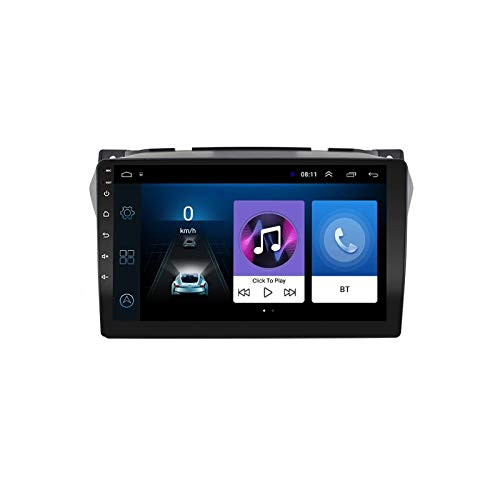 2 DIN Radio De Coche, Autoradio, para Suzuki Alto 2009-2017 con Bluetooth Manos Libres 9' Pantalla Táctil/Mirroring De La Pantalla/FM Tuner/SD Apoyo DSP Navegación GPS,Quad Core,WiFi 1+32