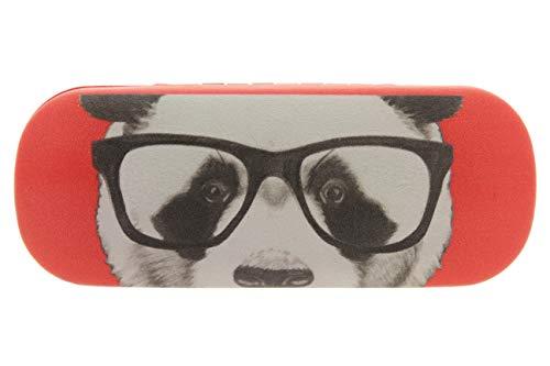 MIK funshopping Brillenetui Panda Hipster Nerd 16 cm (Rot)
