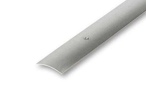 (4,74€/m) Edelstahl Übergangsprofil 30 x 900 mm matt gebürstet Mitte gebohrt | Ausgleichsprofil | Laminatprofil | Türprofil | Fugenprofil | Bodenprofil (30 x 900 mm Mitte gebohrt, matt geschliffen)