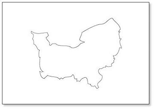 Normandië - Kaart Regio Frankrijk Koelkast Magneet