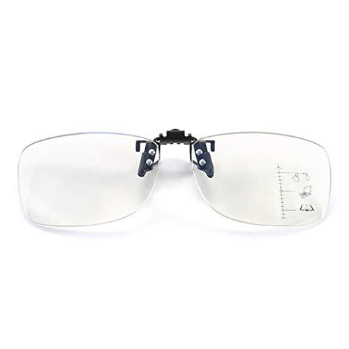 Hothap leesbril clip-on, mannen vrouwen unisex multifunctionele leesbril met dubbel gebruiksdoel voor ver en dicht bereik