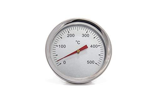 Giemme Spoleto Termómetro INOX 500 °C para Horno fijación con Tornillo