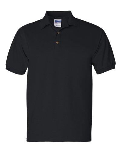 Gildan 100% Cotton Jersey Polo 2800 (XL / Black)