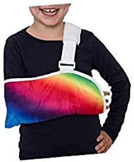 Crazy Casts Arm Sling for Kids - Childrens Arm Support Sling | Premium Designer Arm Slings for Kids for Broken Collarbone or Cast Cover | Small to Large Size for Boys Girls Youth Ages 4+