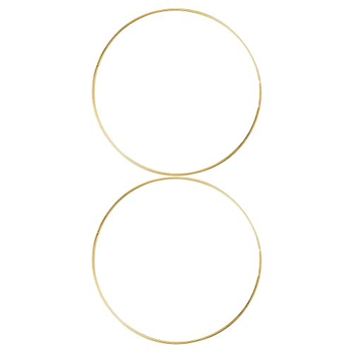BESPORTBLE 12 Inch Large Metal Flower Hoop Wreath Macrame Ring Iron Hoop Rings for Making Wreath Garland Dream Catcher Crafts Wedding Party Hanging Decor 2pcs