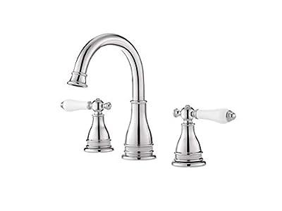 "Pfister LF-WL8-SNPC Pfister Sonterra 2-Handle 8"" Widespread Bathroom Faucet in Polished Chrome Pfister Sonterra 2-Handle 8"" Widespread Bathroom Faucet in Polished Chrome, Small, Polished Chrome"