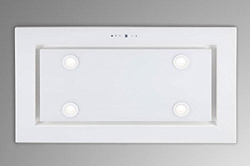 Luxus Deckenhaube 96cm / Weißglas Design/Inlusive Saugstarken Motor 925m³/h/Dunstabzugshaube/Inkluisve Fernbedienung/LED Beleuchtung/4 Stufen mit 1 Turbostufe/Deckenlüfter /Europäische Premiumklasse/