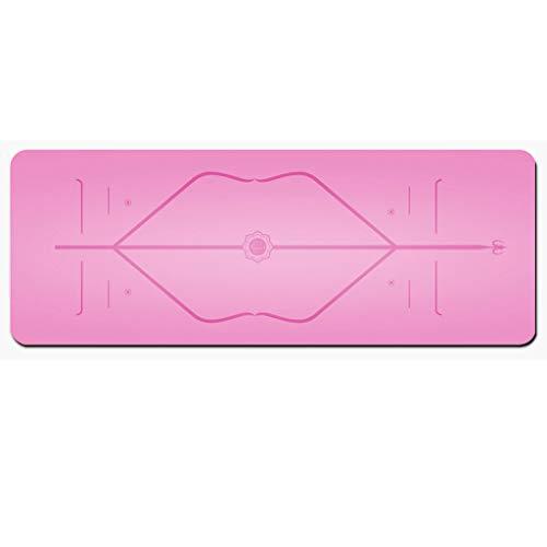 LLKK Yoga Mat,Esterilla Yoga Antideslizante,Uno Equipado con tapete de Yoga de Caucho Natural,tapete de Yoga Fitness,tapete Antideslizante de Doble Cara,tapete de protección Deportiva