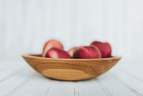 12 Inch Imperfectly Perfect Beech Wood Bowl With Bee's Oil Finish - Holland Bowl Mill