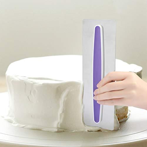 OFNMY Cake Icing Suave, Acero Inoxidable Cake Suave Rascador Decoración Edge Herramienta...