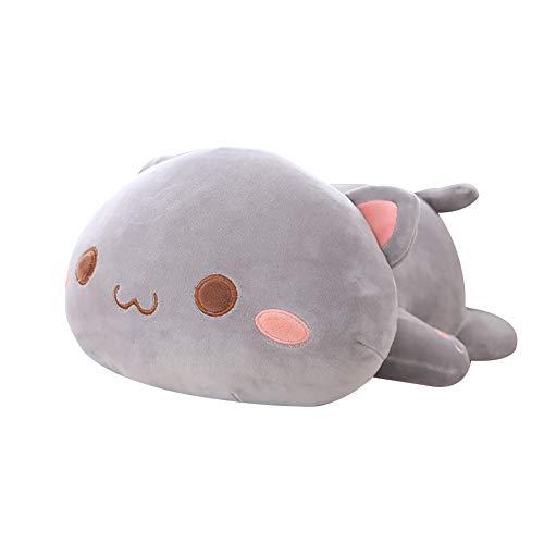 0Miaxudh Plüschtier, Kawaii liegend Katze Tier Puppe, Plüsch Kissen Kissen, Kinder Spielzeug Geschenk gefüllt 3# 50cm