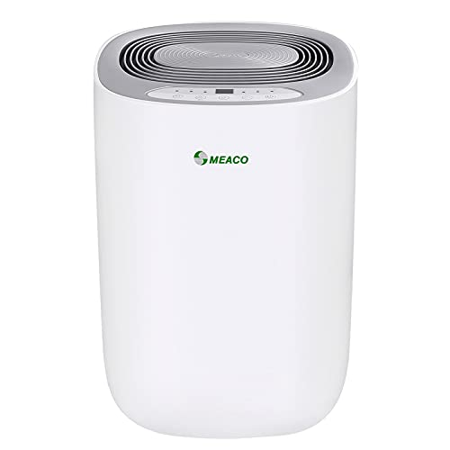 Meaco MeacoDry Dehumidifier ABC Range 12L (Silver) Ultra-Quiet, Energy Efficient, Laundry Mode, Auto-Off, Auto De-Frost - Ideal for Damp and Condensation in The Home