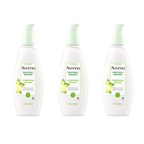 Aveeno Positively Radiant Naturals actifs detergent 200 ml Bouteilles (pack de 3)