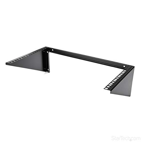 StarTech.com 6U Wall Mount Patch Panel Bracket – 19 in – Steel - Vertical Mounting Bracket for Networking and Data Equipment (RK619WALLV),Black