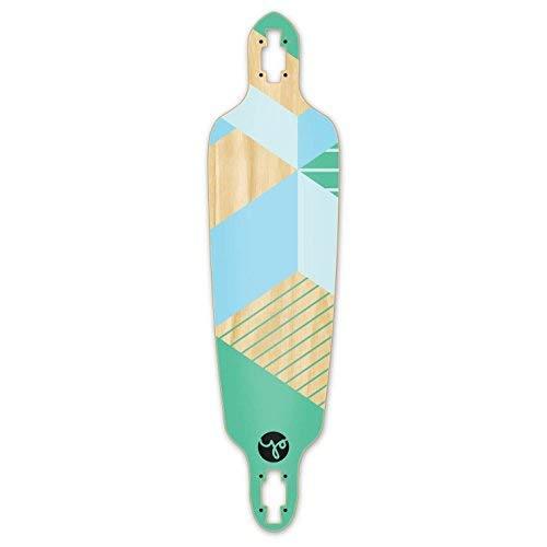 Yocaher Geometric Series Skateboard Longboard Drop Through Deck Only – Green