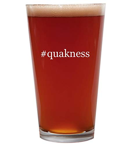 #quakness - 16oz Beer Pint Glass Cup